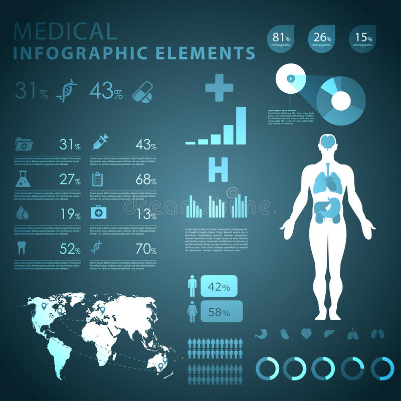 Free Medical Infographic Elements Royalty Free Stock Images - 29771629