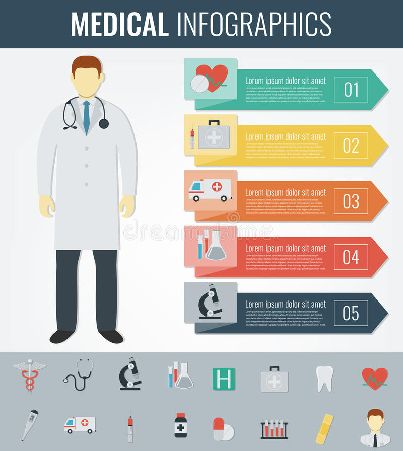 Medical Infographic template. Healthcare infographic. Vector. Illustration vector illustration