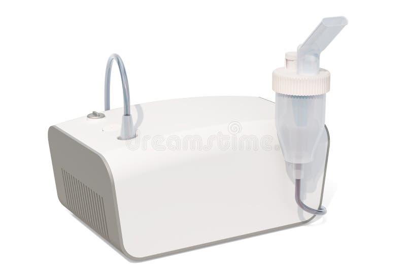 Medical inhaler, nebulizer. 3D rendering. Isolated on white background stock illustration