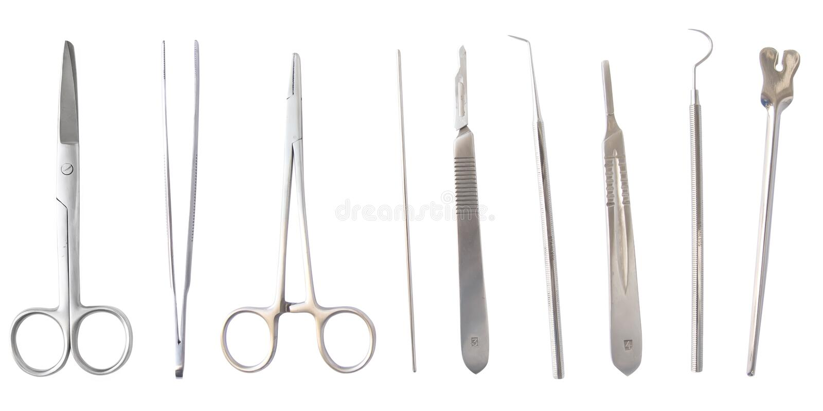 Medical instruments isolated stock photo