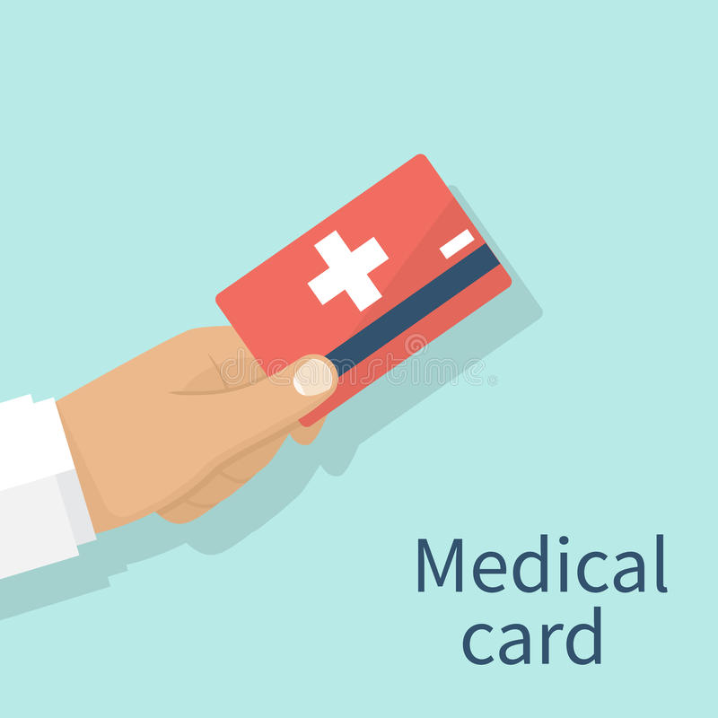 Medical insurance cards stock illustration