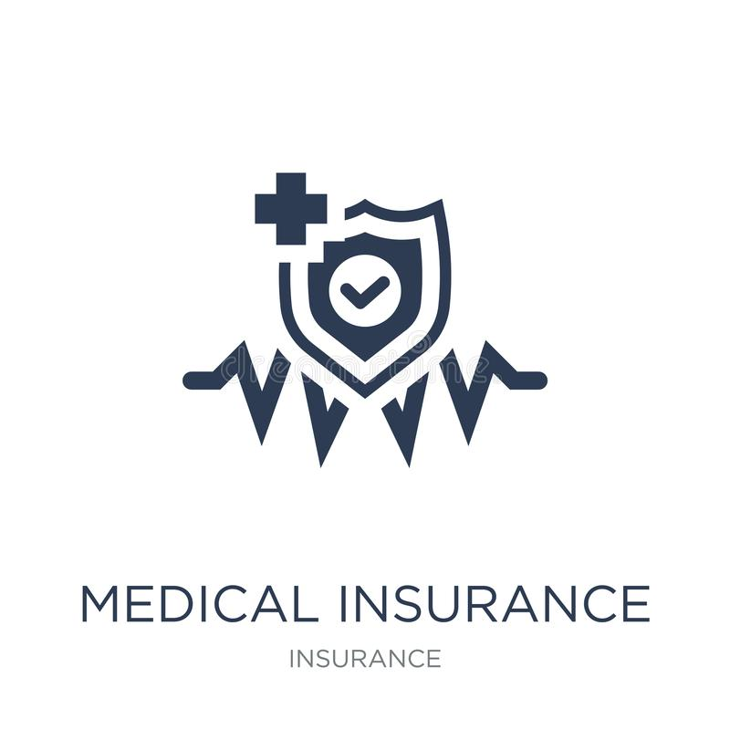 Medical insurance icon. Trendy flat vector Medical insurance icon on white background from Insurance collection royalty free illustration