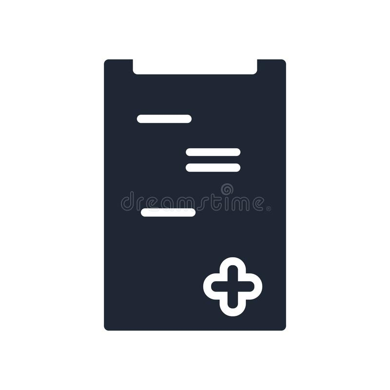 Medical insurance icon vector sign and symbol isolated on white vector illustration
