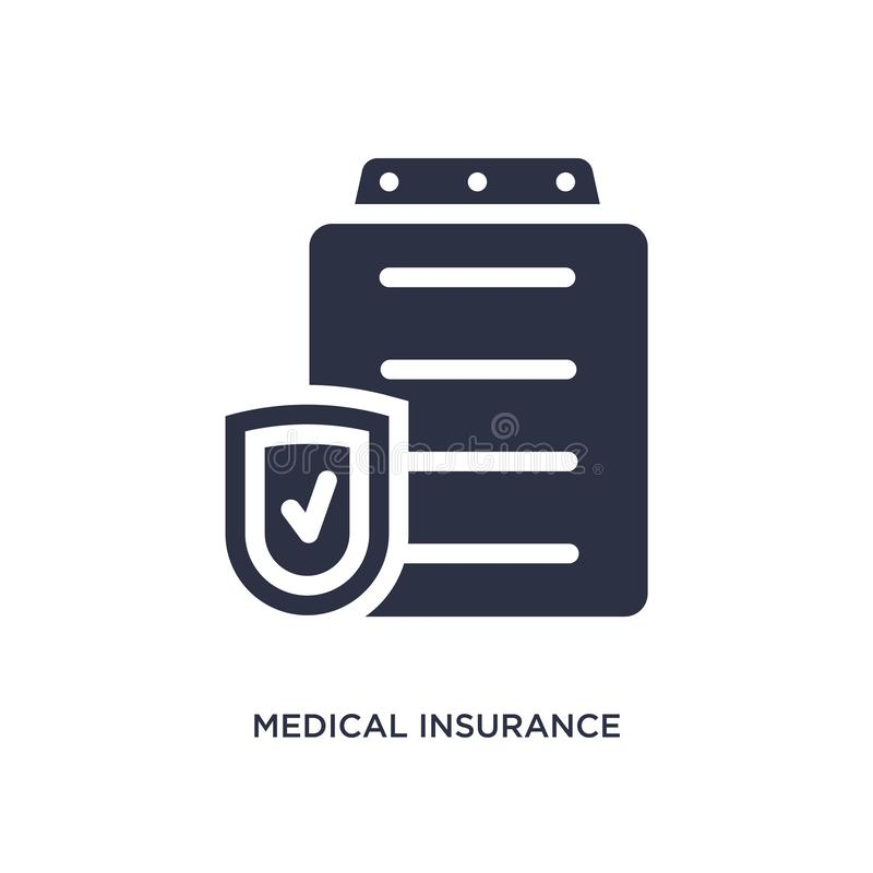 medical insurance icon on white background. Simple element illustration from medical concept stock illustration