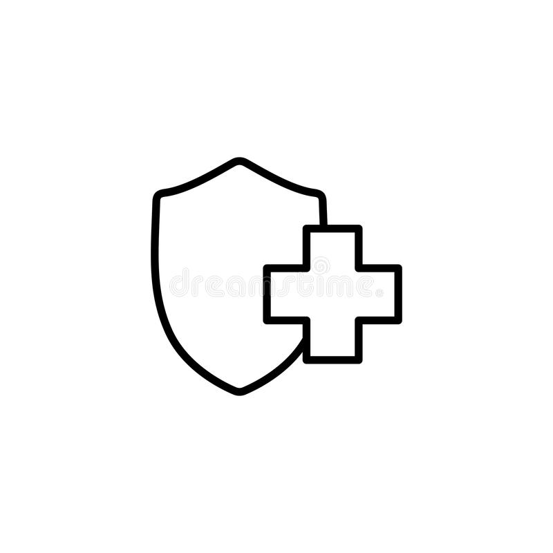 Medical insurance, shiled icon vector illustration