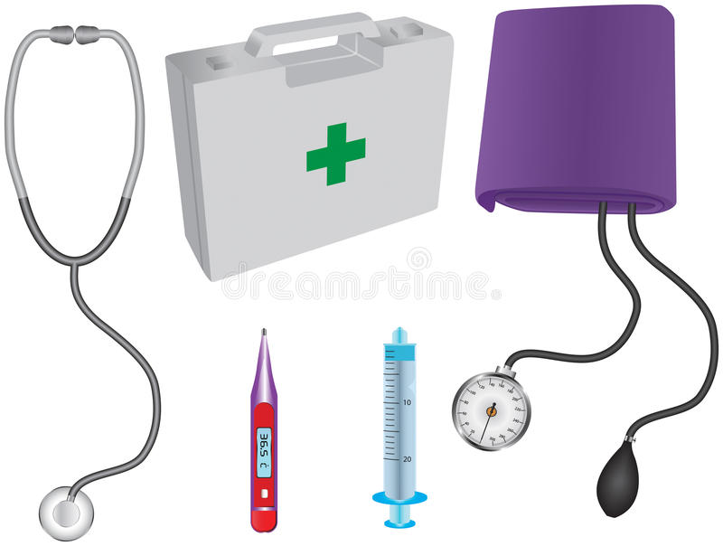 Download Medical items stock vector. Image of temperature, thermometer - 20799088