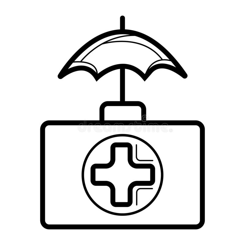 Medical kit health care insurance Icon. Vector vector illustration