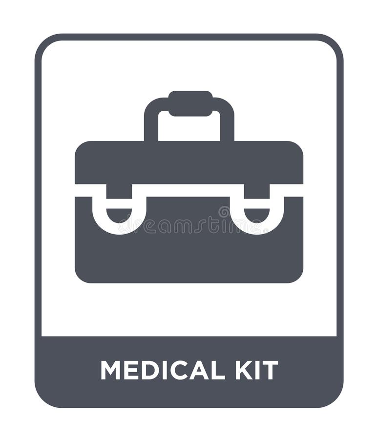 medical kit icon in trendy design style. medical kit icon isolated on white background. medical kit vector icon simple and modern vector illustration