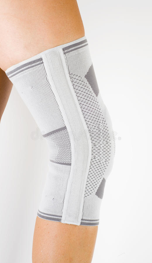 Medical knee support royalty free stock photos