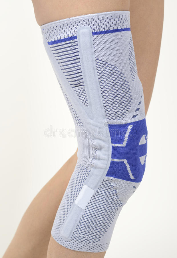 Medical knee support royalty free stock photo