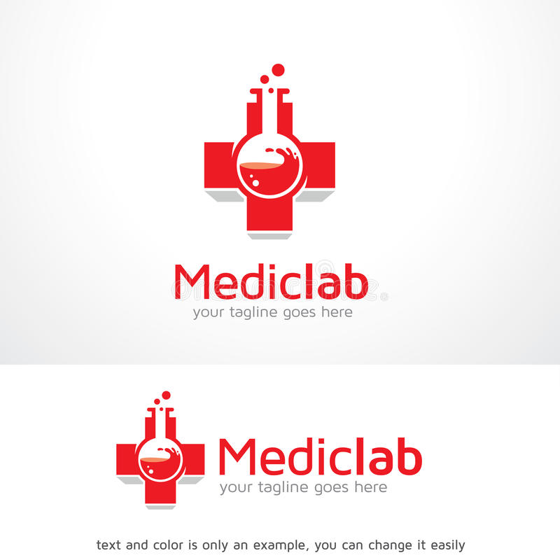 Medical Lab Logo Template Design Vector Stock Vector