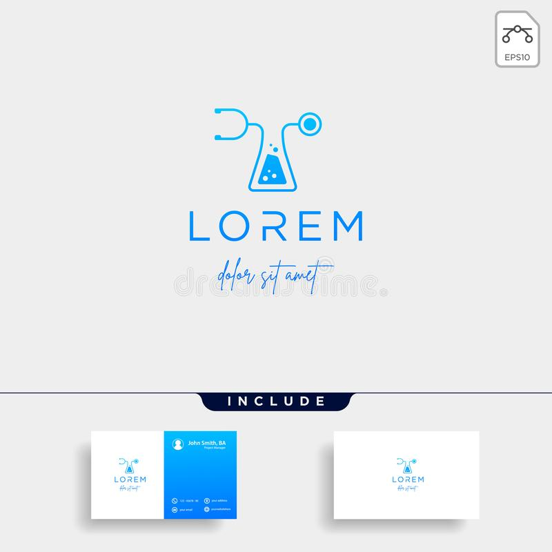 medical laboratory logo vector design icon symbol vector illustration