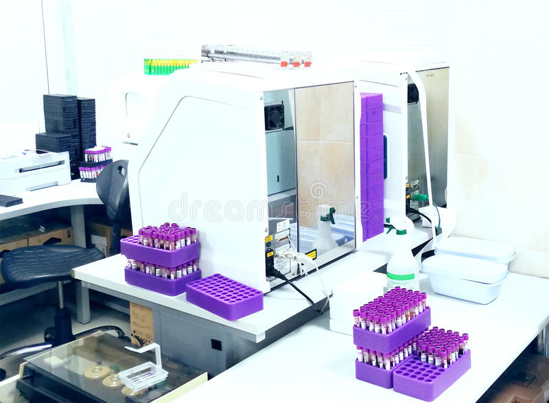 In medical laboratory. medical equipment. royalty free stock image
