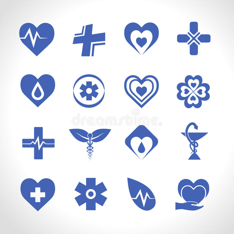 Medical Logo Blue stock illustration