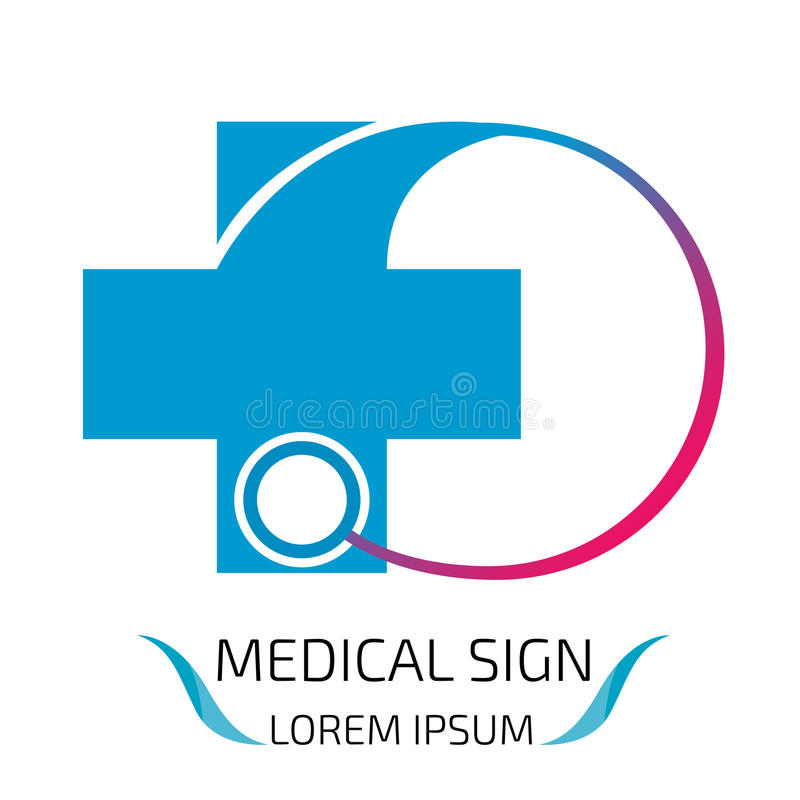 Medical logo design template. stock illustration