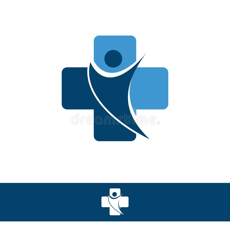Medical logo, medical center logo, health logo, doctor logo, medicine logo royalty free illustration