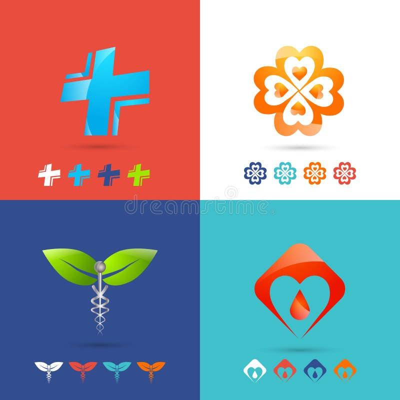 Medical Logo Set vector illustration
