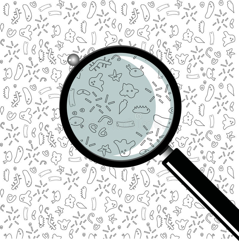 Medical magnifier vector. royalty free illustration