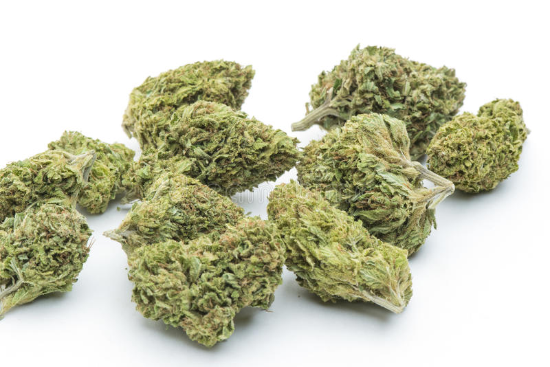 Medical marijuana. Dried and processed medicinal marijuana, legally grown and produced in California stock images