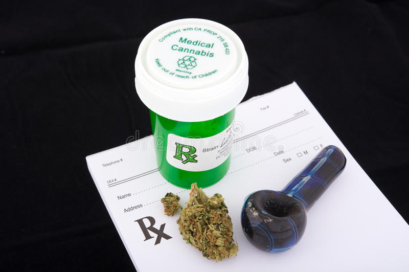 Medical Marijuana Prescription Stock Image
