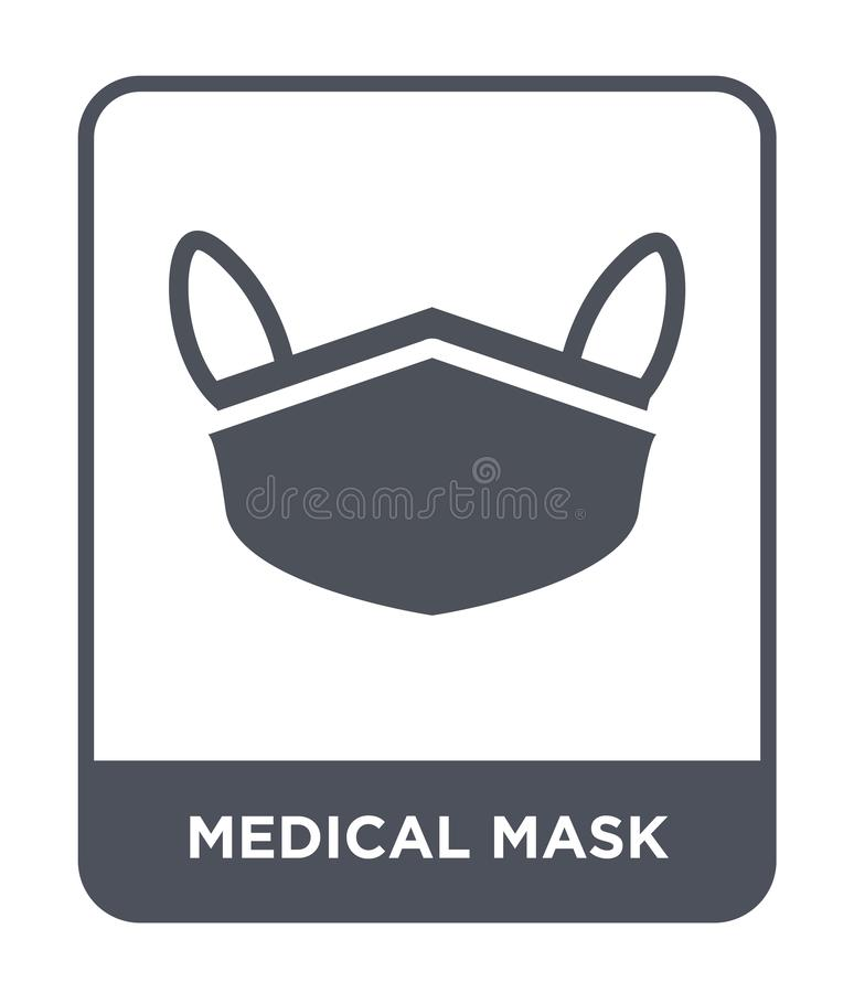 Medical mask icon in trendy design style. medical mask icon isolated on white background. medical mask vector icon simple and. Modern flat symbol for web site stock illustration
