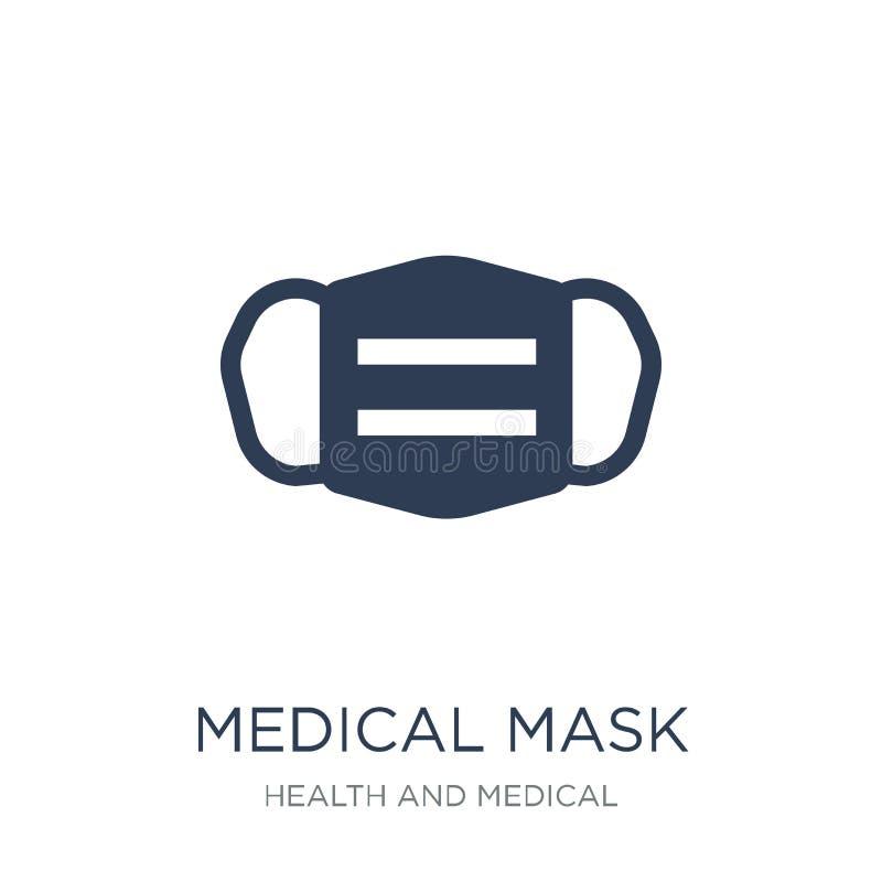 medical Mask icon. Trendy flat vector medical Mask icon on white royalty free illustration