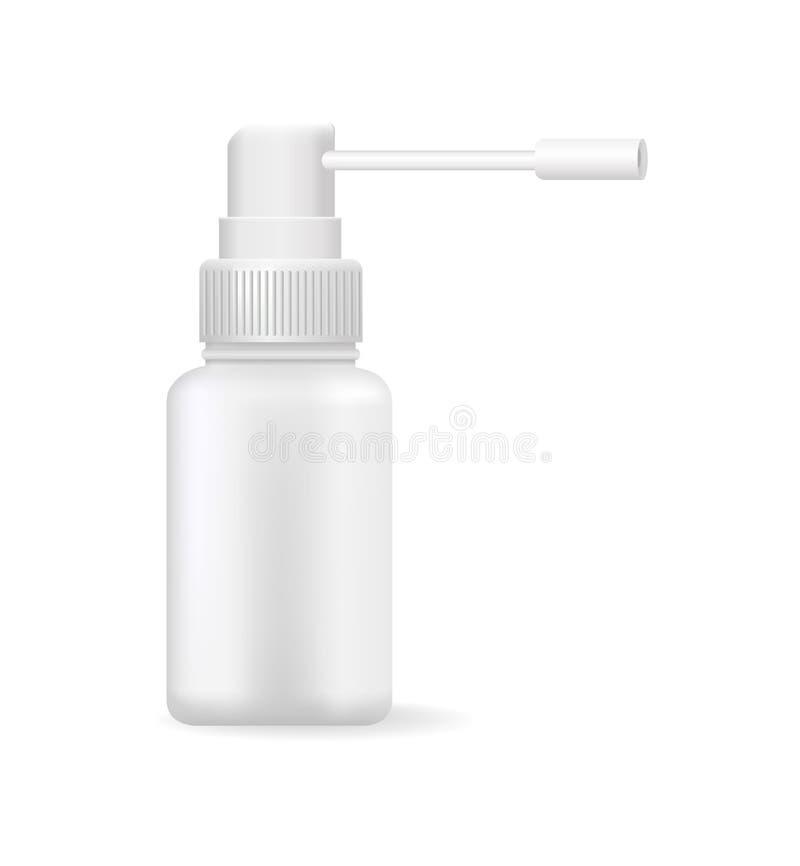 Medical Means in Bright Bottle Vector Illustration stock illustration