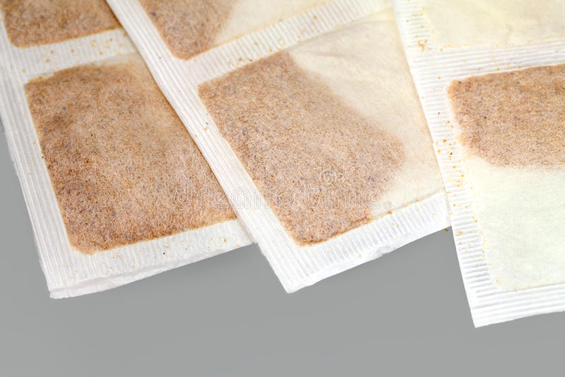 Medical mustard plaster stock photos