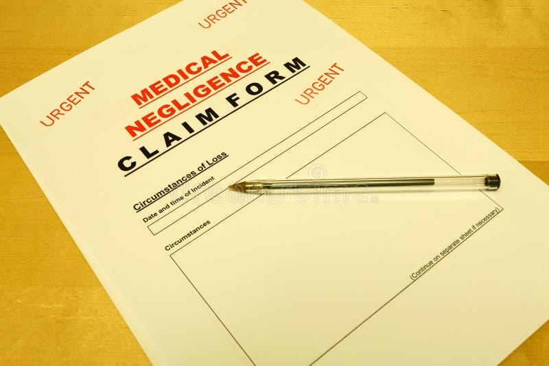 Download Medical Negligence Claim Form Stock Photo - Image: 24596944