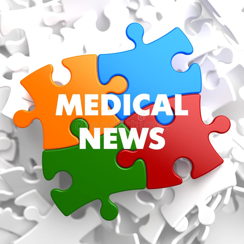 Medical News on Multicolor Puzzle. royalty free illustration