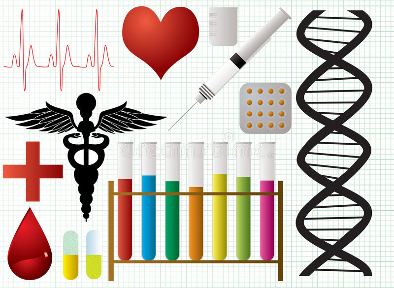 Download Medical objects stock vector. Image of elements, drug - 3399880