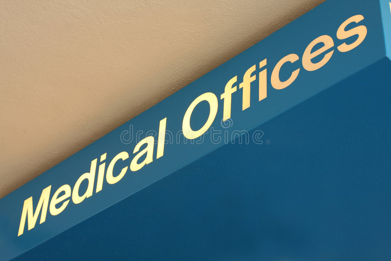Medical Offices sign stock image