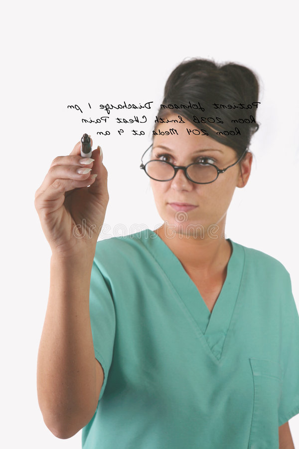 Medical Personnel Writing Royalty Free Stock Photo
