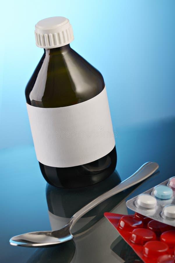 Medical preparations stock photo