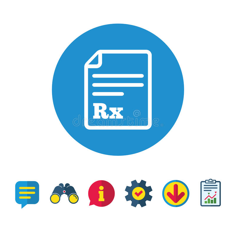 Medical Prescription Rx Sign Icon Pharmacy Stock Vector