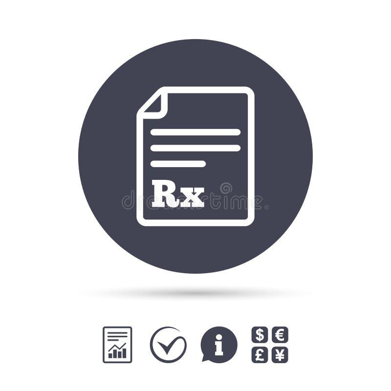 Medical Prescription Rx Sign Icon Pharmacy Stock Vector Image