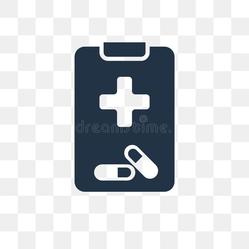 Medical prescription vector icon isolated on transparent background, Medical prescription transparency concept can be used web. And mobile, Medical prescription royalty free illustration