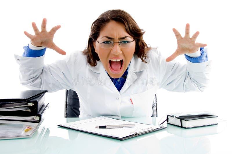 medical professional shouting στοκ εικόνες