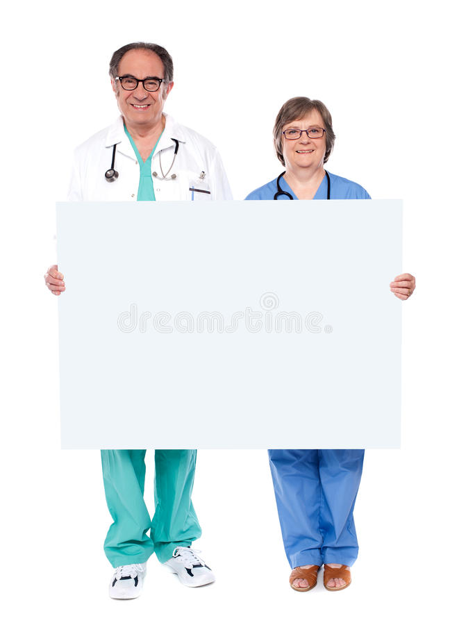 Download Medical Professionals Showing Blank Billboard Stock Image - Image: 25622047