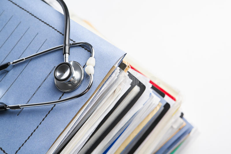 Medical record stock image