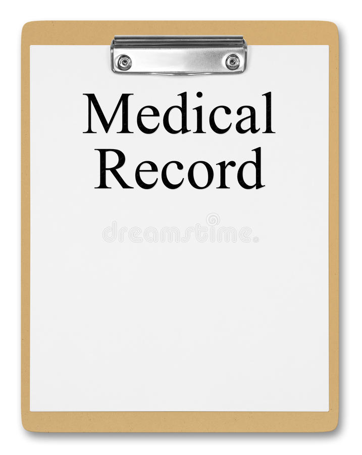 Medical Record Royalty Free Stock Photo
