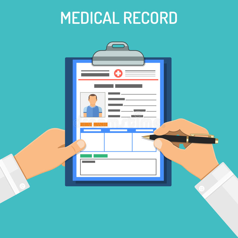 Medical record concept royalty free illustration