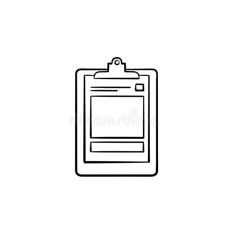 Medical record hand drawn outline doodle icon. royalty free illustration