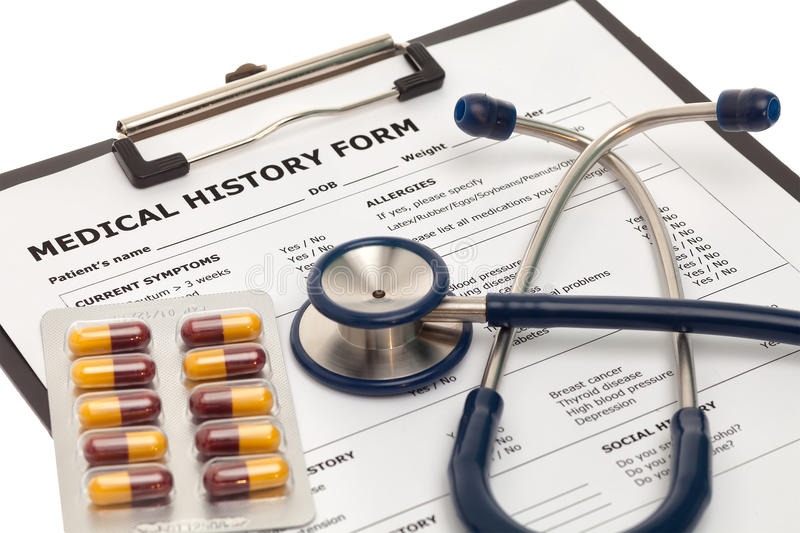 Medical record stock photography