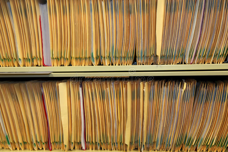 Medical records royalty free stock photo