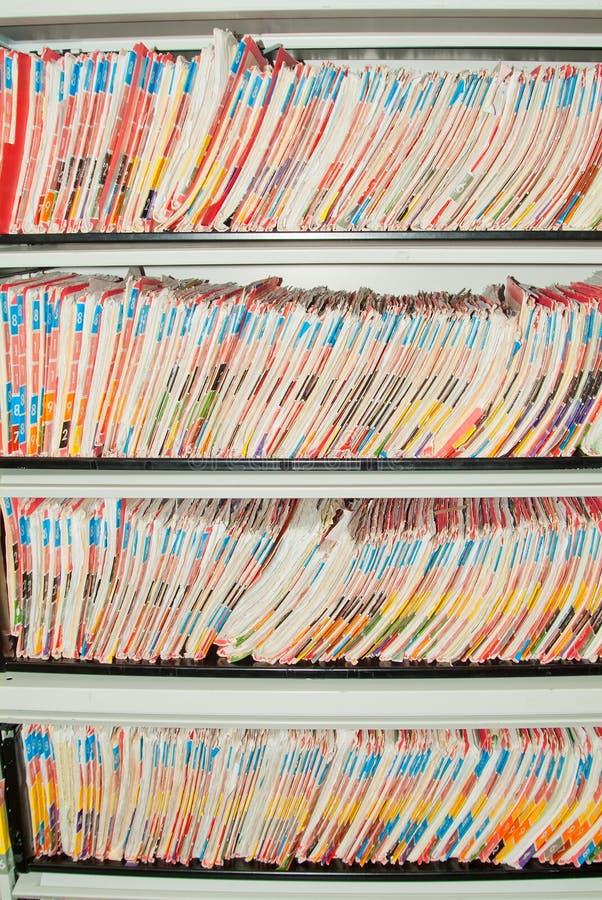 Free Medical Records Folders. Royalty Free Stock Photos - 20855708