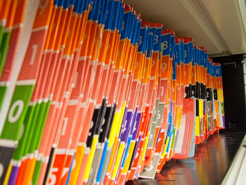Medical Records folders. royalty free stock images