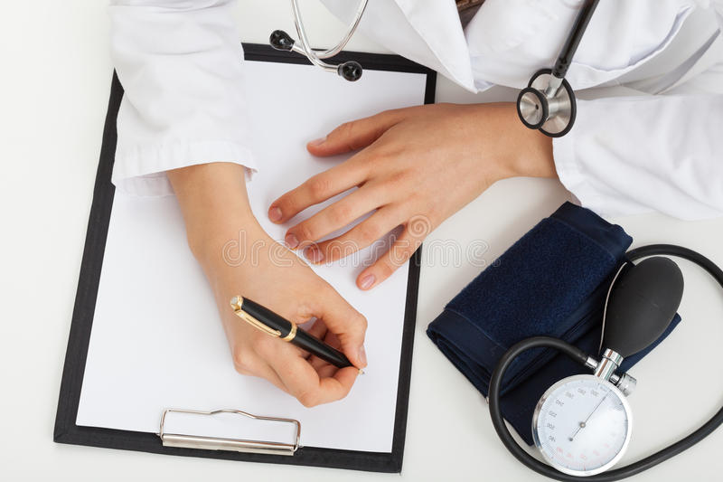Medical report stock photos
