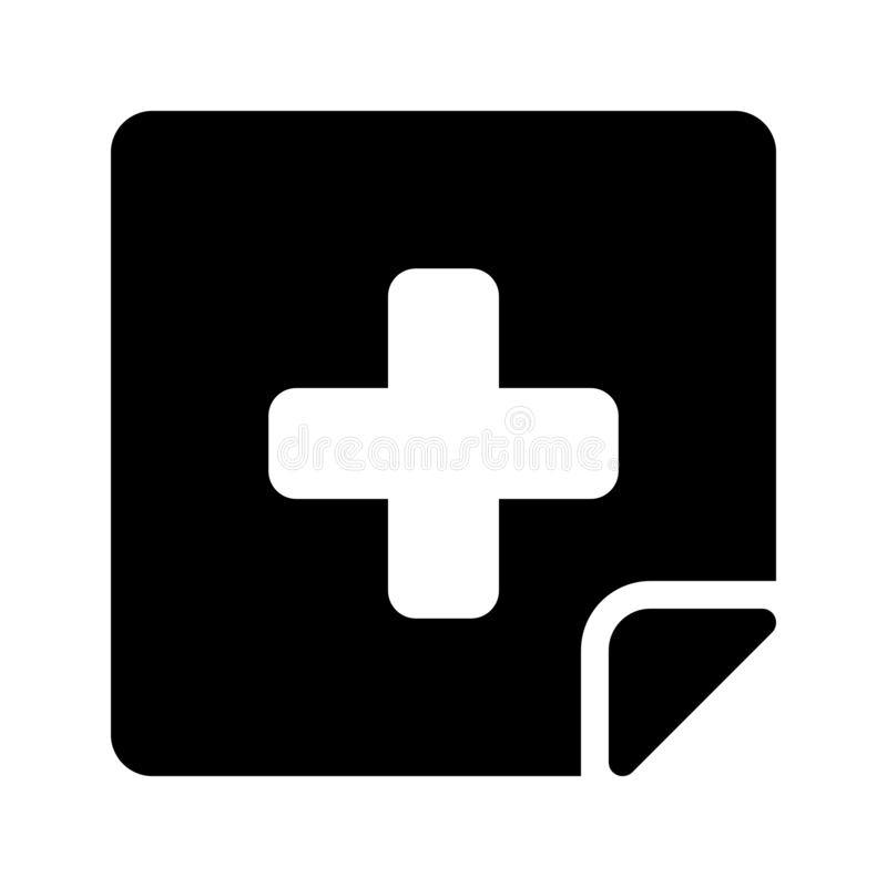 Medical report glyph vector icon royalty free illustration