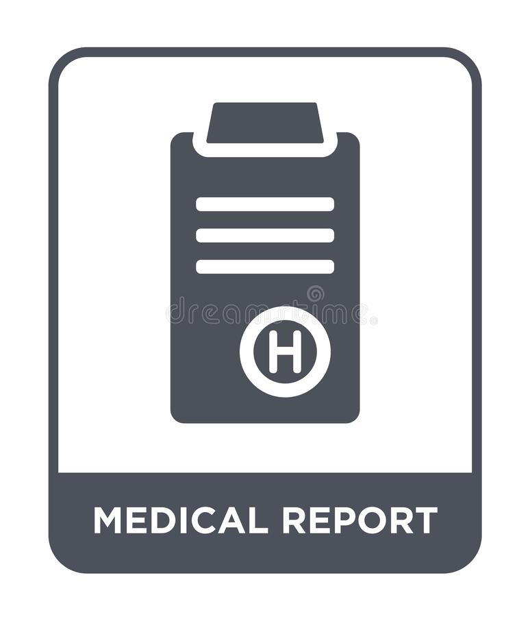Medical report icon in trendy design style. medical report icon isolated on white background. medical report vector icon simple. And modern flat symbol for web vector illustration